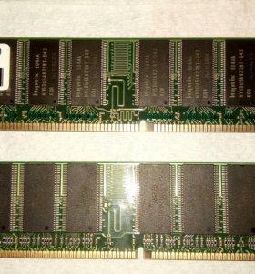 Модуль памяти 2шт. По 256Мб PC400