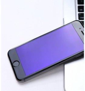 Защитное стекло 3D blu-ray на iPhone 7