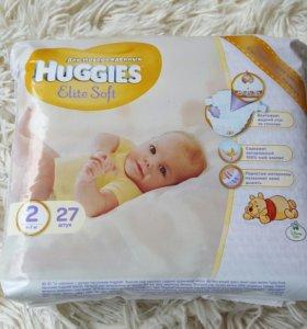 Huggies Elite Soft 2 27 шт