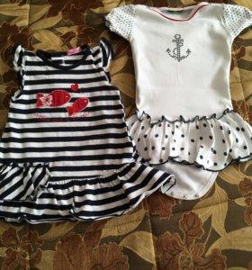 Летние платья для малышки р.74-80