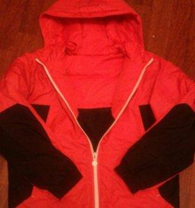 Куртка б/у(двусторонняя) рост 156