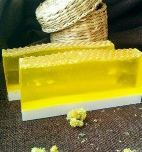 Молочно-медовое мыло ручной работы