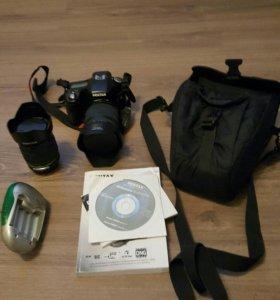 Зеркальный фотоаппарат PENTAX K200D + 2 объектива