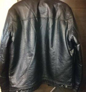 Куртка кожаная, подкладка ненатуральный мех