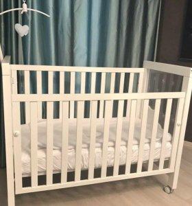 Детская кровать+комод