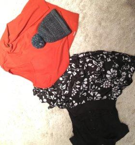 Женская юбка, блузка, джемпер