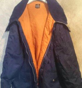 Весенне-осенняя куртка с капюшоном парка XL