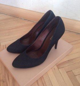 Туфли женские р.39 темно-синие