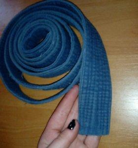 Пояс для кимоно (желтый, синий)