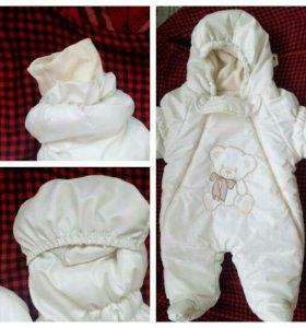 Комбинезон для новорожденного+шапочка в подарок