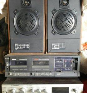 Аудио магнитофон с усилителем