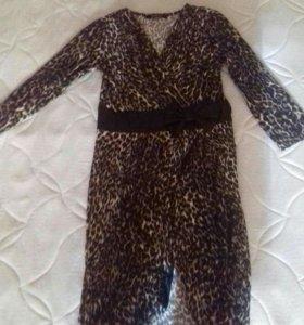 Платье леопардовое,новое.
