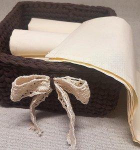 Корзинка с полотенцами для кухни