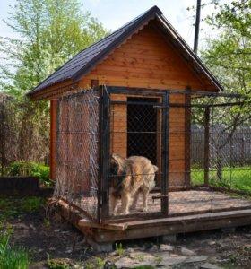 Домик с вальером для собак.