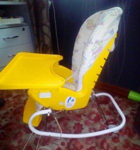 Детский стульчик +качели+кресло качалка