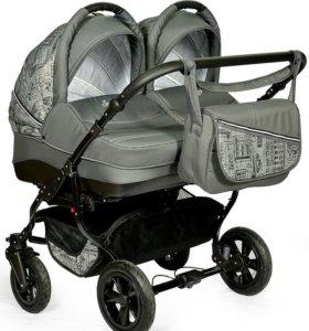 Детская коляска для двойни Индиго