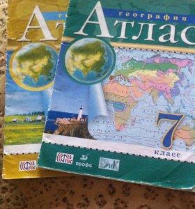 Атласы 7 и 8 класс