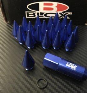 Спортивные гайки BLOX 90mm! M12X1.25