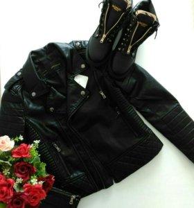 Курточки кожаные