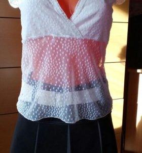 Блузка новая белая