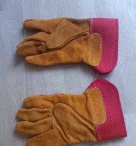 Спилковые перчатки 21шт