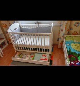 Кровать детская Bambino lilly с ящиком
