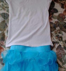 Комплект (юбка, футболка)