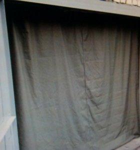 Пошив штор из брезента для гаража