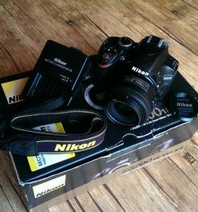 Nikon D3200 с объективом Nikon 35 1.8G или 50 1,8G