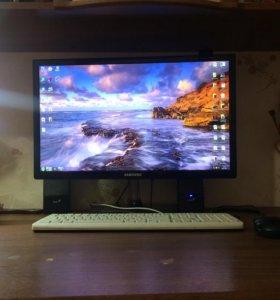 Компьютер ПК+монитор+компьютерная мышь+клавиатура