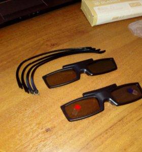 Самсунг 3D очки для ТВ комплект новые !!!