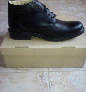 Очень качественные ботинки из натуральной кожи .