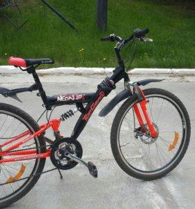 Продам велосипед топгир с дисковыми тормозами и 21