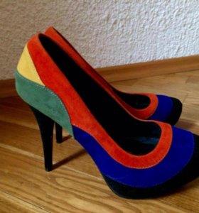 Замшевые туфли Qupid