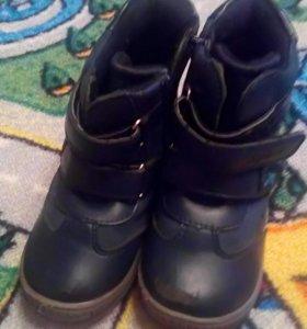 Ботинки осенние на байке
