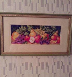 Картина,вышита крестиком