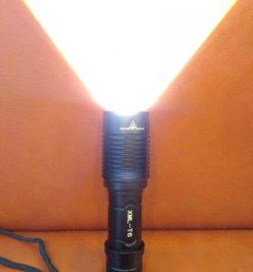 Ручной фонарь со светодиодами xml t6