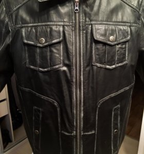 Мужская кожаная куртка , L