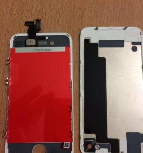 Дисплей и заднее стекло на айфон 4S