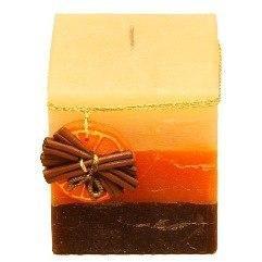 Свеча Корица с апельсином блок