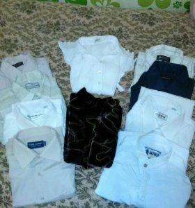 Рубашки мужские и кофты женские.