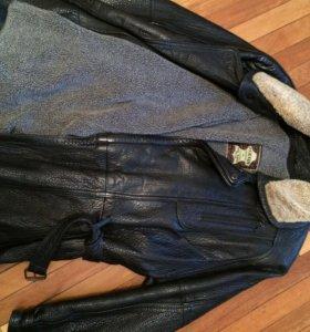 Куртка кожаная(зимняя)
