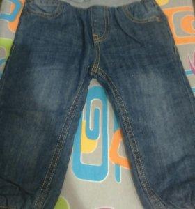 Новые утепленные джинсы baby go