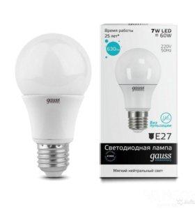 Светодиодная лампа Gauss 7w e27