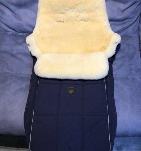 Тёплый конверт-чехол для детской коляски