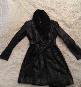 Кожаное пальто Acasta