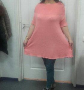 Джемпер-платье Италия 100%хлопок