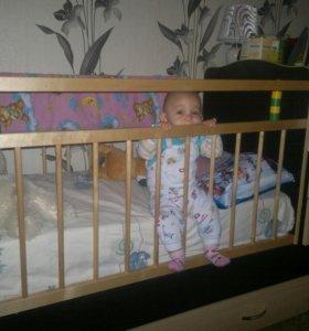 Детская кроватка трансформер с комодом