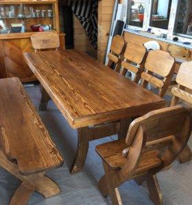 Мебель для дома и дачи из массива дерева набор