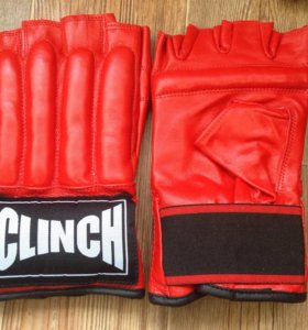 Кожаные перчатки-шингарды Clinch